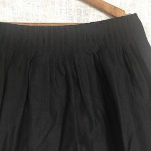 Banana Republic Skirts - Banana Republic Black Cotton Pintuck Mini Skirt